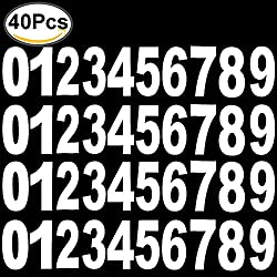Bins Adhesive Numbers, Outee 40 Pcs Dustbin Numbers stickers Wheelie Bins Number Stickers Large Numbers, 0 to 9, 17.5 cm by 9 cm