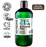 Naissance Mandorle Dolci Certificato Biologico Puro 500ml - Vegan, senza OGM - Ideale per la cura della Pelle e dei Capelli, l'Aromaterapia e come olio da Massaggio di base