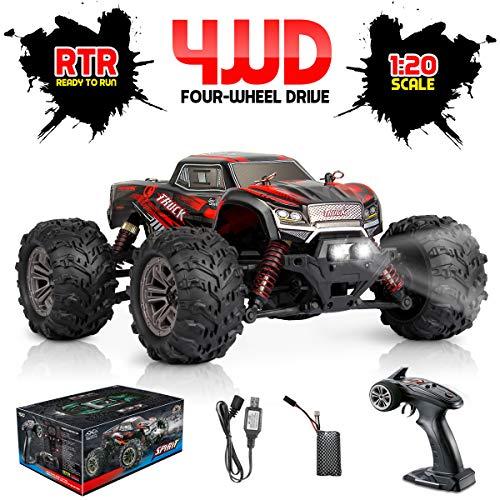 Hosim RC Monstertruck 1:20, Fernsteuertes Buggy LKW, Geländewagen 4WD für Erwachsen & Kinder (Rot) Modellnummer: 9145