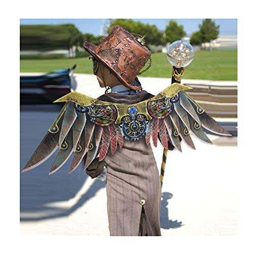 Flügel Kostüm Dasongff Halloween Gothic Fallen Engel Große Flügel Verkleiden Sich Karneval Fasching Adler Party Kostüm Steampunk Cosplay Rollenspiel Dress Up Kostümzubehör Unisex Interessant S/84cm (Angel Dress Up Kostüm)