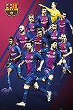 REINDERS FC Barcelona Spieler 2017/18 Poster im Maxi Format Groß 61 x 91,5 cm - Bild Plakat Druck Papier - Lila
