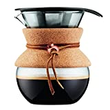 BODUM 11592-109 Pour Over Coffee Maker with Permanent Filter, 0.5 L, Multi-Layered, Transparent, 13.8x 11.5x 15.4 cm