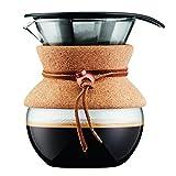 Bodum 11592-109 Pour Over Kaffeebereiter mit Permanentfilter 0,5 L, Mehrlagig, transparent, 13,8 x 11,5 x 15,4 cm