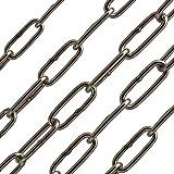 OPIOL QUALITY | 6 mm Kette langgliedrig Edelstahl A4 DIN 763 (2 Meter) | Rundstahlkette | Lang-gliedrig | Anker-Kette | Gliederkette | Stahlkette