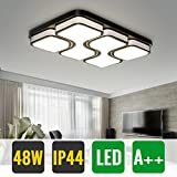 HG® LED 48W Deckenlampe Geschäft Energiespar Weiß Wand-Deckenleuchte Möbeleinbauleuchte