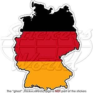 Deutschland Deutsch Map Flag Deutschland 10 9 Cm 110 Vinyl Bumper Aufkleber Aufkleber Garten