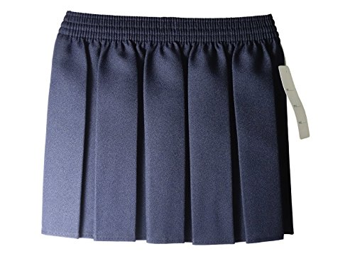 RoMaAn's IDeal Fashion New UK Kids School Uniform Polyester Box Pleated Elasticated Waist Girls Skir (Years 9-10, Blue) - Blue School Uniform Pleated Skirt
