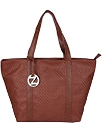 Osaiz Brown Colored PU Leather Shoulder And Hand Bag For Women , Girls And Ladies For Every Style & Occasion .
