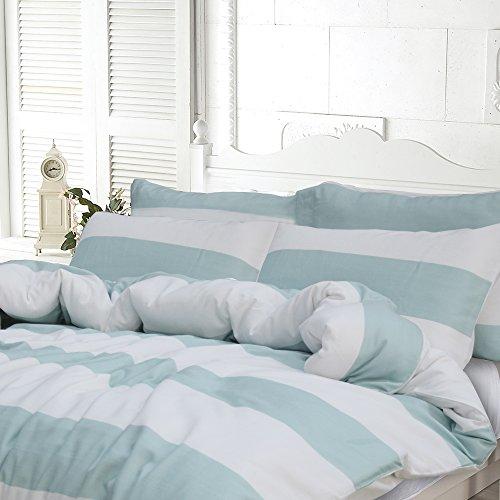 Lausonhouse Garn gefärbt 100% Baumwolle Bettwäsche-Set – 135×200
