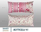 Bassetti 9282340 Botticelli V1 Kissenhülle Satin, mehrfarbig, 40 x 40 x 0,5 cm in
