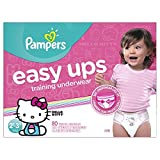 Pampers Girls Easy Ups Training Underwear, 2T-3T (Size 4), 80 Count - Packaging May Vary by Pampers