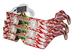 3d Christmas Glasses - Holiday Specs - CANDY CANES - 3 PAIRS - Transform Christmas Lights Into Magical Messages -