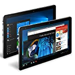 CHUWI Hi10 Pro 2 en 1 Ultrabook Tablet PC 10.1 pulgadas IPS Pantalla Windows 10 + Android 5.1 Intel Cherry Trail Z8350 64bit Quad Core 1.44GHz 4GB RAM 64GB ROM Bluetooth 4.0 HDMI Función de Aguja (con Teclado)