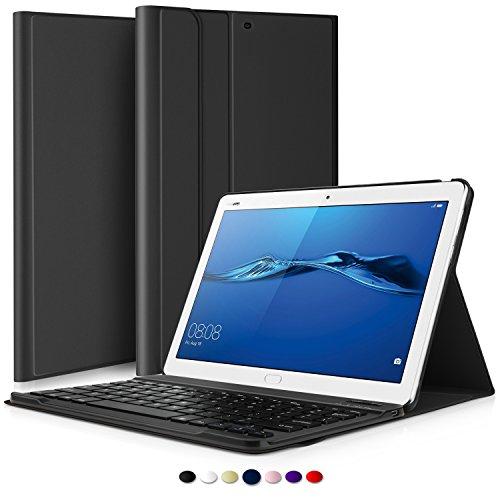 tablet huawei mediapad m3 IVSO Huawei MediaPad M3 Lite 10 QWERTY Bluetooth Tastiera Portfolio - Detachable Bluetooth Copertura della Tastiera per Huawei MediaPad M3 Lite 10 Tablet