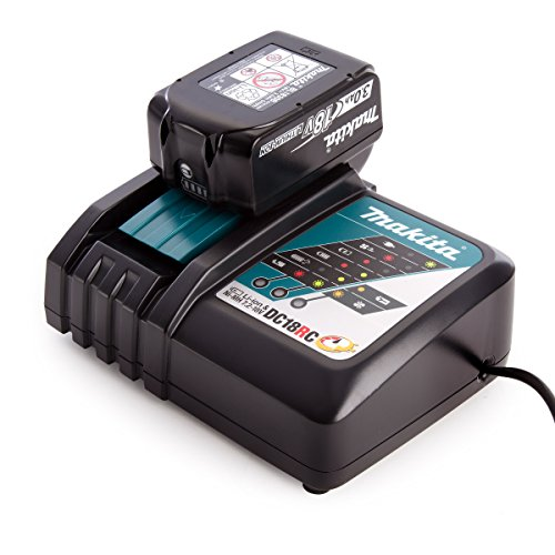 Makita 195584-2 + BL1830B 3 A Battery Charger, 18 V, Black