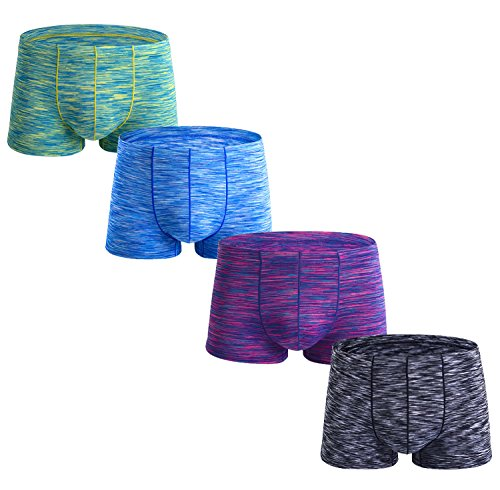 WEIJIGUOJI Men's Boxer Briefs Multi Pack Stretch Trunks Underwear