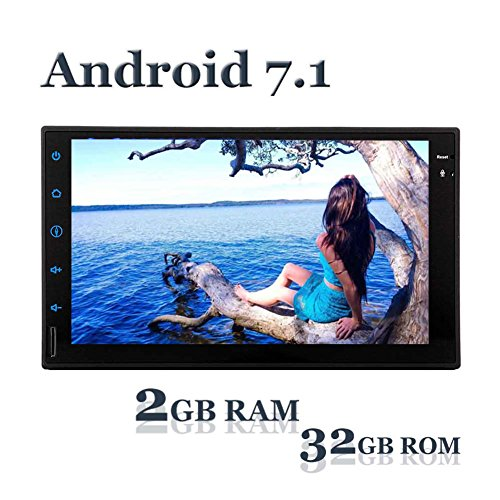 EINCAR Wirelss Rückfahrkamera + GPS Navigation Android 7.1 Auto keinen DVD-Player mit Doppel-DIN-7-Zoll Touch-Screen-HD Auto-Stereoradioempfänger Dash Bluetooth Multimedia-System AUX