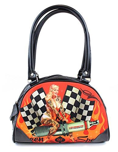 Liquor Brand Femme Rockabilly Bowler sac Pin Up – Queen of Speed shulter
