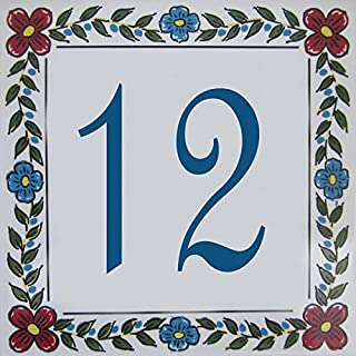 Azul'Decor35 Anzahl individuell geflieste Haus - Wählen Sie Ihre Nummer und die Größe Ihrer Straßenschild!