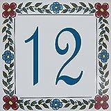 Azul'Decor35 Hausnummer – 15x15x0,5cm - Wählen Sie Ihre Nummer!