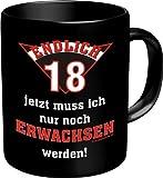 Becher Kaffeetasse endlich 18 volljährig Geschenk zum