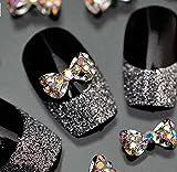 Joyeee 10 Stück 3D Strasssteine für Nägel - Schleife - Nagel-Kunst-Funkeln DIY Strass Dekoration Edelsteine Kristall Diamant