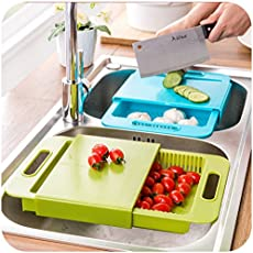 HOUSE OF QUIRK Chopping Board with Drawer Style (Multicolour)