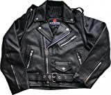 German Wear Kinder Motorradjacke Rockerjacke Chopper Brando Lederjacke
