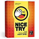 Nice Try - Das Challenge Party Spiel, Witziges Kartenspiel für 4 - 8 Spieler. Partyspaß auch für...
