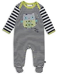 The Essential One - Baby Jungen Eule Strampler - Blau - EO239