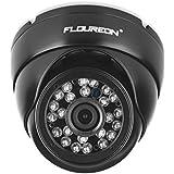 FLOUREON Caméra Dôme de Surveillance Étanche 720p 1.0mp 1500TVL Vandalproof Vision Nocturne Système de Sécurité CCTV Compatible avec DVR AHD