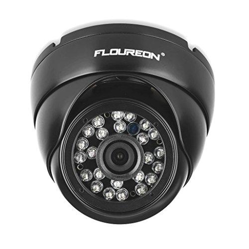 FLOUREON Caméra Dôme de Surveillance Étanche 1080p 2.0mp 3000TVL Vandalproof Vision Nocturne Système de Sécurité CCTV Compatible avec DVR AHD P2P Cloud Sauvegarde par USB