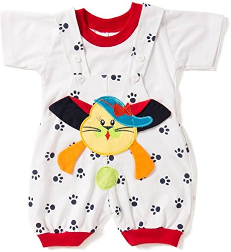 Miss U Baby-Boys Cotton Outfits & Clothing Set (Cathalfblack6_Black_0 - 6 Months)