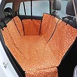 OHlive Gemütlich Universal Einstellbare Doppelschicht Wasserdichte Haustier Hund Katze Auto Bett Sitzbezug Matte für alle art von fahrzeuge Reise Hängematte Decke Sicherheit (Orange)