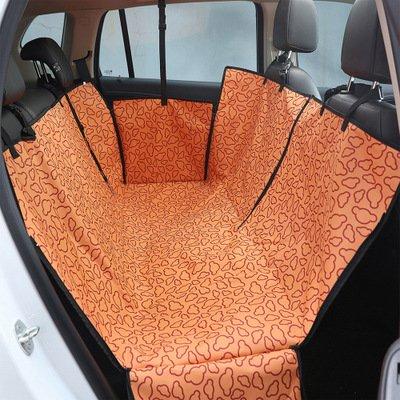 Whyyudan Tappeto coprisedile regolabile universale doppio strato impermeabile pet dog cat Car Seat Mat per tutti i tipi di veicoli Amaca da viaggio Coperta di sicurezza (arancione)