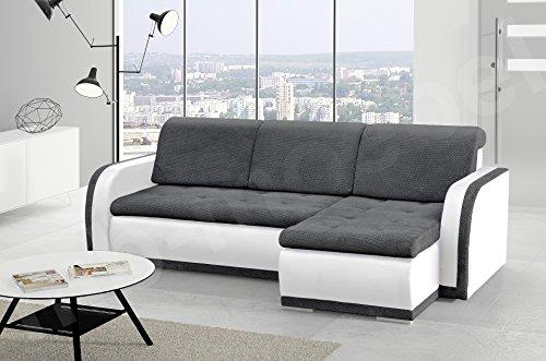 kleines Ecksofa Sofa Eckcouch Couch mit Schlaffunktion und Bettkasten L-Form Polstergarnitur große Farbauswahl - VERO I (Ecksofa Rechts, Dunkelgrau +...