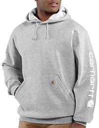 a87c70ecb812 Carhartt pour Hommes Signature Logo Moyen Chemise à Manches Capuche K288