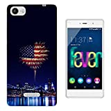 002727 - American Flag Fire Works Design Wiko Fever special