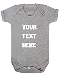 Purple Penguin Clothing Baby Grow Personalised Your Text Here Design Your Own