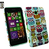 Emartbuy® Nokia Lumia 630 / Lumia 635 Gel Hülle Schutzhülle Case Cover Owls