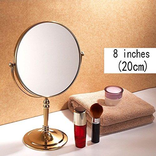 8 Zoll Hotel Tisch Spiegel/Europäische Spiegel Doppel Kosmetikspiegel, Tragbare Prinzessin Spiegel,...