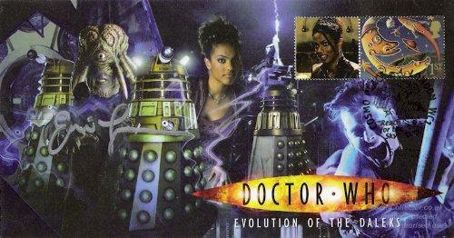 Doctor Who Stempel Cover 'Evolution of the Daleks' unterzeichnet Eric Loren