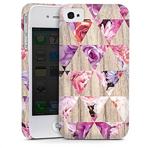 Apple iPhone 4 Housse Étui Silicone Coque Protection Motif Motif Printemps Cas Premium mat