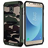 Epxee Samsung Galaxy J3 2017 Hülle, Silikon Handyhülle Schwarz TPU Bumper Cover Schutzhülle für Samsung Galaxy J3 2017 Case - Camouflage