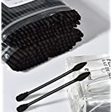 Shopystore Activated Black Cotton Swab Double Head Disposable Powerful Cleansing Cotton Swab Cotton