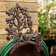 Outdoor Home Heavy Duty Water Pipe Holds Rack Cast Iron Little Bird Hose Hook Antique Garden Yard Decorative L