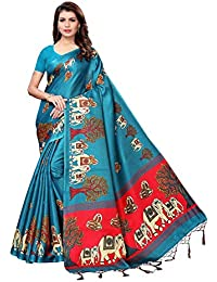d975c12982c9d Macube Khadi Saree With Blouse Piece(Ms2334 Multi Color Free Size)