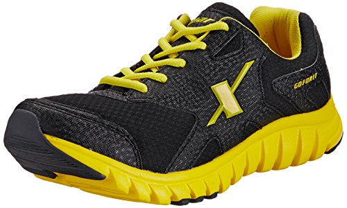Sparx Men's Black and Yellow Mesh Running Shoes