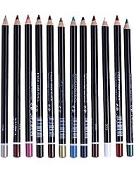 LianLe®12pcs Crayon pour les Yeux Eye-liner Fard à Paupière Contours des Lèvres