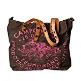 Campomaggi Damen Oliv Canvas/Leder Shopper One Size